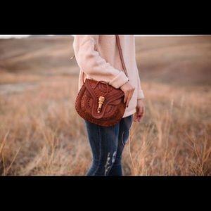 Handtooled Leather Crossbody Bag Guatemala